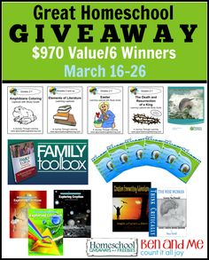 Come and enter to win $970 worth of curriculum in the Great Homeschool Giveaway March (2015) Edition :: TodaysFrugalMom.com