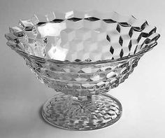 "Fostoria ""American/Early American"" Pattern Tom and Jerry Footed Punch Bowl in Clear"