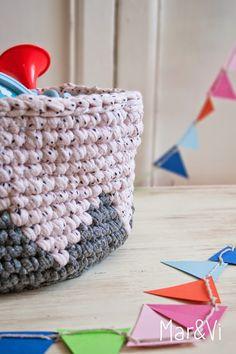105 Fantastiche Immagini Su Cestino Fettuccia Crochet Baskets