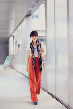 Shop this look on Kaleidoscope (pants, scarf) http://kalei.do/XGL26vW7pS85lj5O