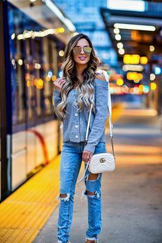 19d6904464cf ... Event - Shopbop Shoulder Tie Cardigan // Lovers + Friends Jeans //  Similar White Heels // Le Specs Sunglasses // Gucci Marmont Bag March 2017  by maria