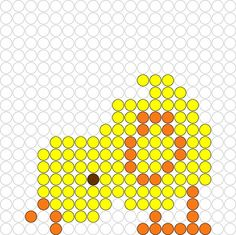 Kralenplank Kuikentje 1 Perler Bead Templates, Pearler Bead Patterns, Perler Patterns, Cross Stitch Designs, Cross Stitch Patterns, Lego, Iron Beads, Melting Beads, Easter Activities