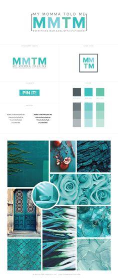 My Moma Told Me WordPress Blog Design by White Oak Creative - logo design, wordpress theme, mood board inspiration, blog design idea, graphic design, branding