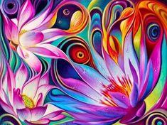 cuadros al oleo para salas coloridos