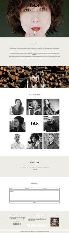 Love the beautifully simple design of DV8 mag's new site running on a Station Seven #WordPress theme.