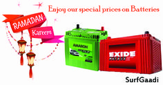 Celebrate Ramzan replacing old batteries with new!  Book online and avail special offers on car battery, Inverter battery, bike battery this Ramzan  #carbattery, #carbatteryonline, #inverterbattery, #inverterbatteryonline, #bikebattery, #bikebatteryonline, #surfgaadi