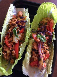 Thai Chicken Lettuce Wraps  -- Evensen Personal Menus