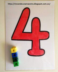 Rincón de una maestra: Carteles de los números