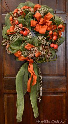 DIY Home Decor DIY Fall Crafts : DIY Fall Harvest Wreaths