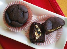 Chocolate Chip Cheesecake-Filled Chocolate Cupcakes (Suitable for: Candida diet Stage 3 and beyond; gluten-free; egg-free; dairy-free; low glycemic; vegan)