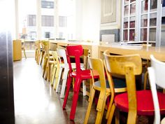 Old! Love the chairs from Artek, in mixed finishes. Rose Bakery in the Dover St. Market in London