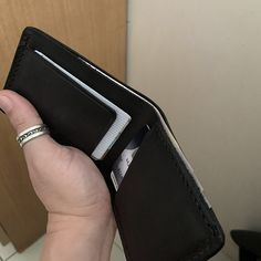 Wallet Men Leather Wallet Men's Leather Wallet Bifold | Etsy Brown Leather Wallet, Men's Leather, Real Leather, Custom Mens Wallets, Light In, Business Card Case, Minimalist Wallet, Slim Wallet, Etsy