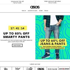 Up to 60% off jeans and pants