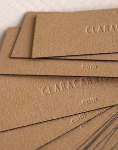 Elegant business cards