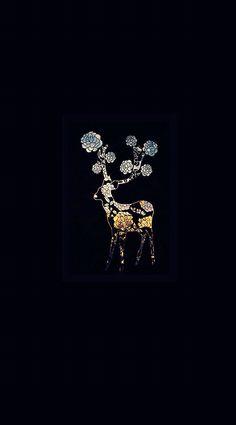 Deer & flowers art