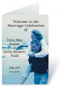 DIY Wedding Programs from PaperDirect    www.paperdirect.com