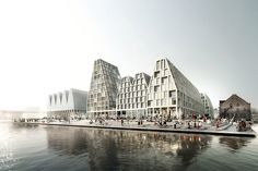 fending off competition from OMA and MVRDV, the winning proposal replaces the site's existing warehouses with a series of new structures.