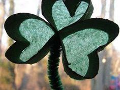 Cool project from www.kiwicrate.com/diy: Irish Spring: A Shamrock Sun Catcher Craft for Kids