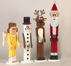 Free Christmas Wood Patterns | Indoor Christmas - Christmas Pole People Wood Pattern