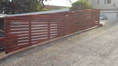 modern horizontal wooden fence panels - Google Search
