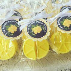 Lemon Soap Favors, Lemonade, Shortcake theme, Pink lemonade, spring party favor, Birthday Party, baby Shower. Handmade Soaps. www.favorsbyangelique.com