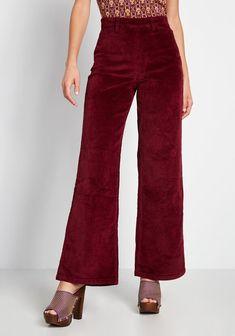70s Clothes & Fashion: Dresses, Pants & More   ModCloth 70s Fashion, Fashion Pants, Fashion Outfits, Stella Mccartney, Harry Styles Concert, Modcloth, Wide Leg Pants, Pants For Women, Corduroy Pants Women