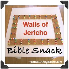 Walls of Jericho Bible Snack for Kids. Assemby-based activity- no kitchen, knife, or Martha Stewart talents required! Great for Sunday School or a rainy day at home.