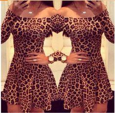 Vestido Rodado Leopardo no Airu
