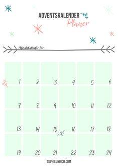 Ein kostenloses Freebie Planer, Map, Winter Time, Christmas Time, Advent Season, Advent Calendar, Location Map, Maps