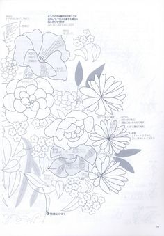 "Photo from album ""Flower Arrangement"" on Yandex. Chinese Book, Sewing Art, Asian Art, Embroidery Patterns, Flower Arrangements, Needlework, Diagram, Bird, Projects"