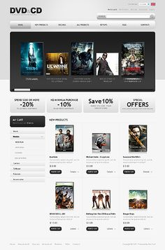 DVD Movies ZenCart Templates by Mercury Mercury, Entertainment, Templates, Store, Movies, Models, Films, Template, Cinema