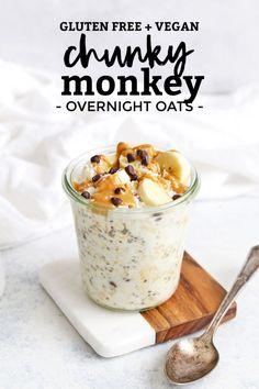 Yummy Overnight Oats, Peanut Butter Overnight Oats, Coconut Peanut Butter, Low Calorie Overnight Oats, Raspberry Overnight Oats, Chocolate Overnight Oats, Oats Recipes, Paleo Recipes, Freezer Recipes