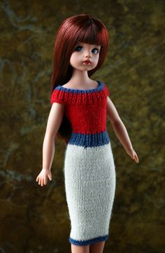 Sindy by Tonner Doll Company Crochet Barbie Clothes, Baby Doll Clothes, Fashion Dolls, Retro Fashion, Tammy Doll, Sindy Doll, Pink Gingham, Cute Pink, Knit Dress
