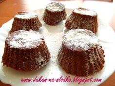 Dukan na Słodko: Ekspresowe babeczki z mikrofalówki Dukan Diet Recipes, Healthy Recipes, Cheesecake, Food And Drink, Sweets, Cooking, Breakfast, Desserts, Dukan Diet