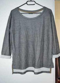 À vendre sur #vintedfrance ! http://www.vinted.fr/mode-femmes/pull-overs/25888764-pull-manche-34-bonobo-jeans-gris