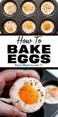 Egg recipes, egg recipes in muffin tins, egg recipes for bre Egg Recipes For Lunch, Vegan Recipes Beginner, Egg Recipes For Breakfast, Healthy Low Carb Recipes, Breakfast Healthy, Vegetarian Recipes, Delicious Recipes, Eggs In Muffin Tin, Muffin Tins