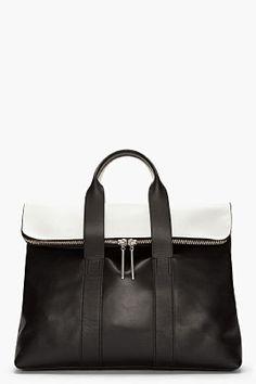 3.1 PHILLIP LIM black and white 31 Hour Bag