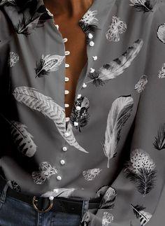 Buy Blouses, Online Shop, Women's Fashion Blouses for Sale - Floryday Cute Blouses, Blouses For Women, Shirt Blouses, Shirts, Womens Fashion Online, Latest Fashion For Women, Blouse Styles, Blouse Designs, Women's Fashion Dresses