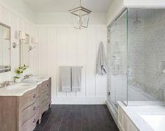 Trendy Bathroom Lighting Over Mirror Restoration Hardware Paint Colors Room Tiles, Bathroom Floor Tiles, Bathroom Renos, Bathroom Wall, Small Bathroom, Master Bathroom, Bathroom Lighting, Bathroom Ideas, Bathroom Marble
