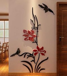 3d Creative Flower Wall Murals for Living Room Bedroom So...