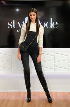 Taylor Hill appears on Amazon's Style Code Live on December 2, 2016 in New York City.