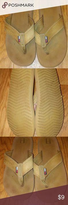 Tommy Hilfiger Leather Flip Flops. Good condition. Tommy Hilfiger Shoes Sandals & Flip Flops