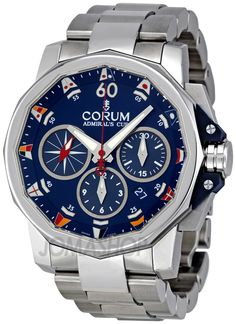 Corum Admirals Cup Challenge Blue Dial Chronograph Mens Watch 75369320V701AB92 $5,460