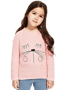 Pink Pure Cotton Face Jumper