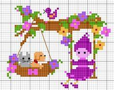 Baby Crib Bedding, Christmas Cross, Baby Sweaters, Ribbon Embroidery, Needle And Thread, Hama Beads, Cross Stitching, Pixel Art, Needlework
