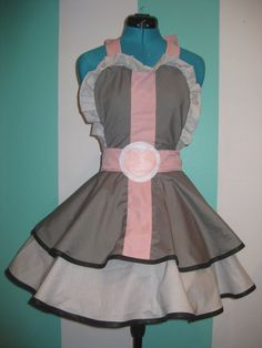Companion Cube Inspired Cosplay Apron Pinafore by darlingarmy, $85.00