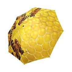 Amazon.com: Hot Sale Bee and Honeycomb Foldable Umbrella Compact Umbrella: Clothing