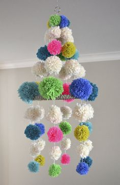 Pompom chandelier by Art Bar