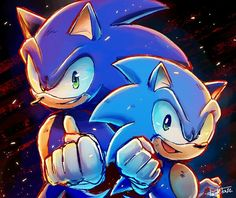 Sonic modern and sonic classic Game Sonic, Sonic 3, Sonic And Amy, Sonic Fan Art, Sonic Party, Sonic The Hedgehog, Silver The Hedgehog, Sonic Generations, Sonic Underground