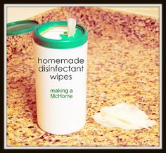 Homemade disinfectant wipes using Shaklee products